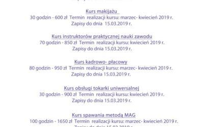 Wiosenna edycja kursów branżowych