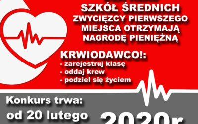 Konkurs dla krwiodawców