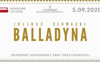 Narodowe Czytanie w ZSTiO, Balladyna
